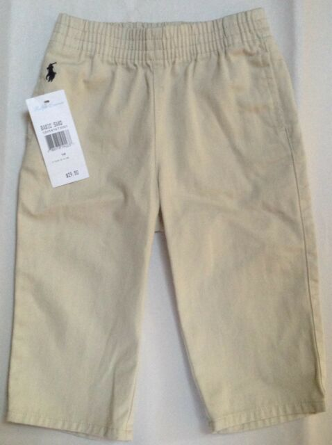 Ralph Lauren Baby Infant Boys Khaki Tan Pants Size 9 Months 9m Stretch Waistband Boys' Clothing (newborn-5t) Bottoms