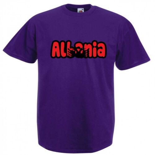 Albania Text Flag Children/'s Kids Child/'s T Shirt
