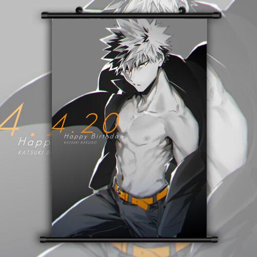 Boku no Hero academia Bakugou HD Print Anime  Wall Poster Scroll Room Decor