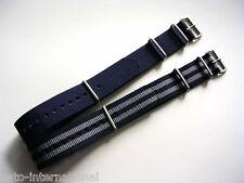 Blue-Grey NATO G10 watch band strap 2 pak Bonded IW SUISSE 18 20 22 24 NATO Intl