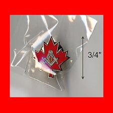 "RARE CANADA MAPLE LEAF:LG 3/4"" MASON MASONIC LAPEL PIN!"