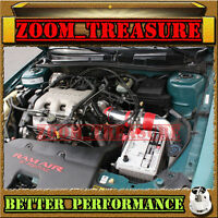Red Chf 1997-2003/97-03 Chevy Malibu 3.1l V6 Full Cold Air Intake Kit 3pc