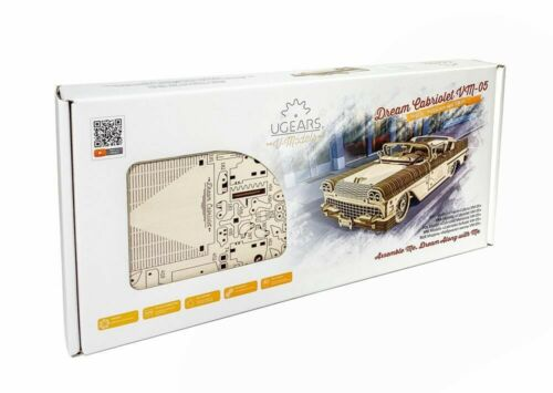 UGEARS Mechanical 3D Puzzle Wooden DREAM CABRIOLET VM-05 Model self-assembly