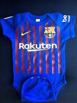 barcelona baby soccer bodysuit