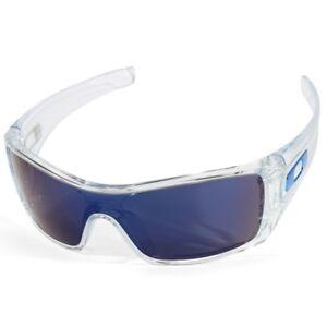 c999cb3609 Oakley Batwolf OO 9101-07 Clear Ice Iridium Men s Shield Sports ...
