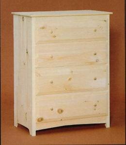 Image Is Loading New Amish Unfinished Solid Pine Primitive Chest Of