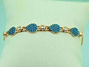 Turkish-Handmade-Jewelry-925-Sterling-Silver-Turquoise-Stone-Women-Bracelet