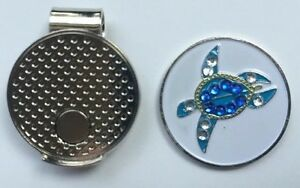 NEW-Crystal-Sea-Turtle-Golf-Ball-Marker-Free-Magnetic-Hat-Clip