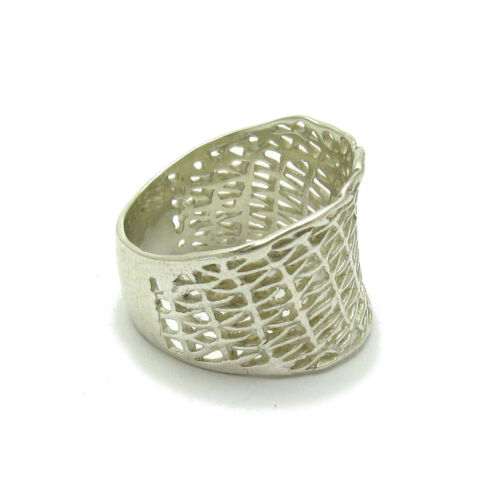 Sterling Silver Ring Band Mesh Qualité Solide 925 Taille 4-12