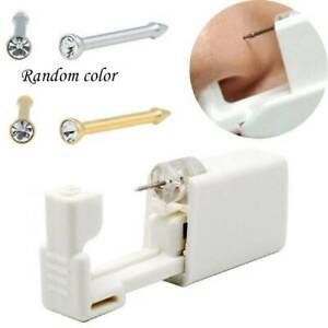 1x-Disposable-Sealed-Nose-Piercing-Gun-Kit-Tool-With-316L-Stud-Bone-With-Gem-New