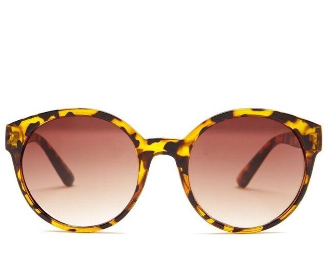 93ae316ed7 Retro Steve Madden Mod Round Plastic Sunglasses Tortoise Brown SM875138