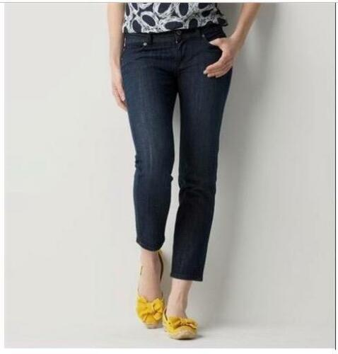 NWT ANN TAYLOR LOFT Original Cropped Jeans  0   $54.50  Dark Wash