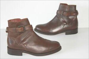 MARLBORO-CLASSICS-Bottines-boots-Homme-Tout-Cuir-Marron-Fonce-T-41-TTBE