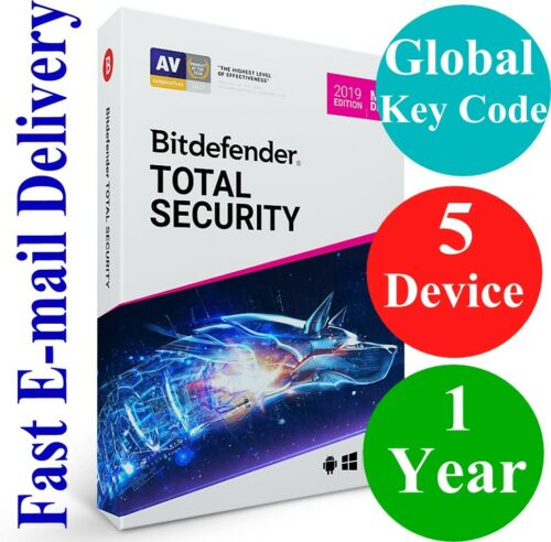 2019 Unique Global Activation Code Bitdefender Total Security 5 Device //1 Year