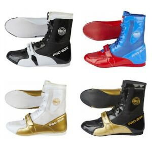 PRO-BOX JUNIOR BLACK//GOLD BOXING BOOTS SPARRING TRAINING GYM KIDS
