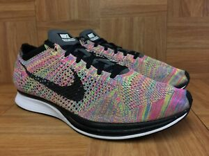 RARE-Nike-Flyknit-Racer-Multicolored-Trainers-Sz-12-526628-004-Gray-Tongue