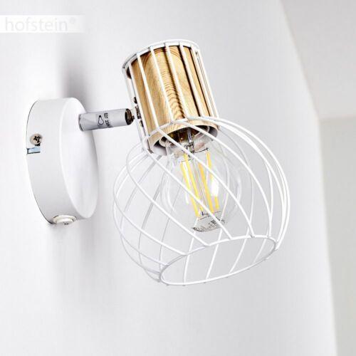 Vintage Flur Dielen Strahler Wand Lampen Wohn Schlaf Zimmer Leuchten weiß//Holz