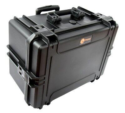 waterproof Hard Case EL1911W Deep Plastic case with wheels and Telescopic Handle