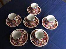 6 Espresso/Demi Tasse Cups and saucers - Otagiri Mercantile Company