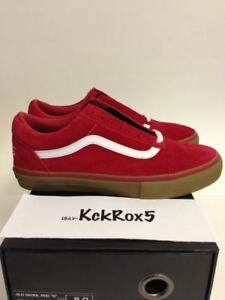 915f6750f0f5cc VANS OLD SKOOL PRO S SYNDICATE ODD FUTURE RED GUM GOLF WANG TYLER ...