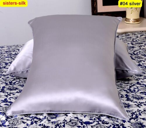 1pc 40mm 100/% Silk Pillow Case Cover King Queen Standard Body Travel Size