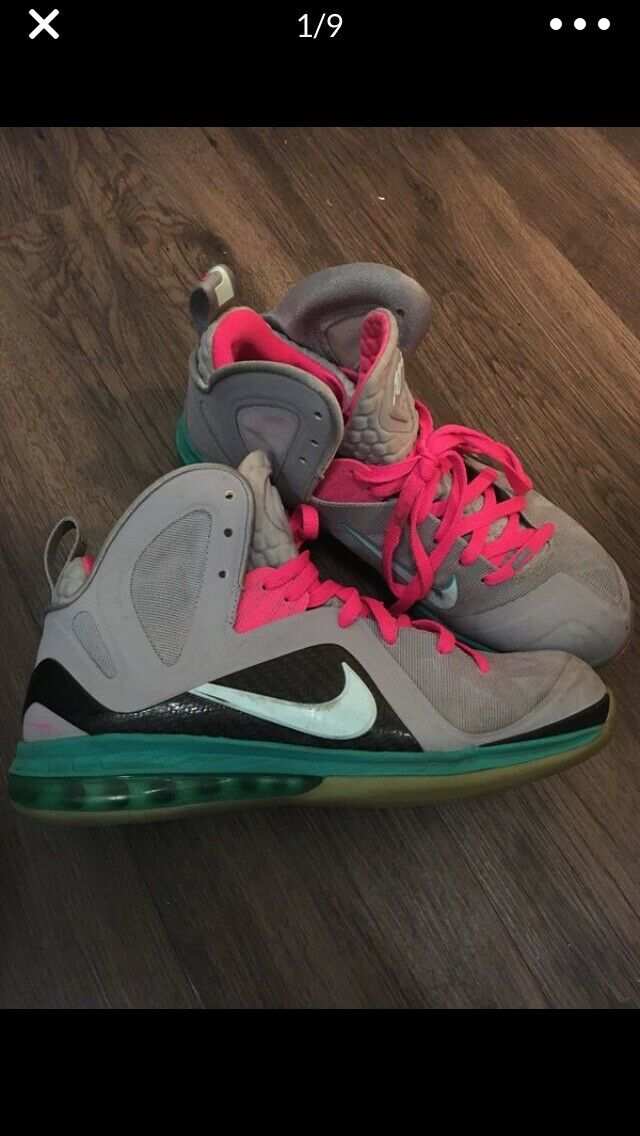 Nike LBJ South Beach US Size 10.5