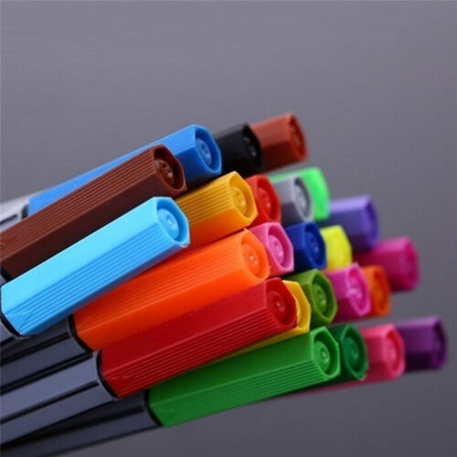0.4 mm 24 Fineliner Pens Color Fineliners Set Markers Art Painting Good SwUK