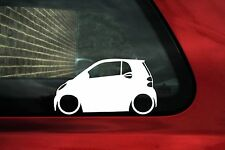 2X Low car outline stickers - For Smart ForTwo w451 (2nd gen) lowered