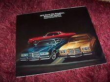 Prospectus / Brochure PONTIAC Grand Ville / Benneville / Catalina 1975  USA //