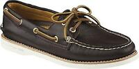 Sperry Top Sider Women S Gold A O 2 Eye Leather Dark Brown Boat Shoe Sz 10 M