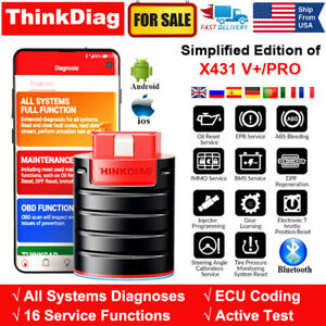 thinkcar Bluetooth Pro Bidirectional OBDII Scan Tool AutoVIN Code Reader for iPhone /& Android Thinkdiag OBD2 Scanner Bluetooth Car Diagnostic Tool for All System with 16 Reset Service ECU Coding