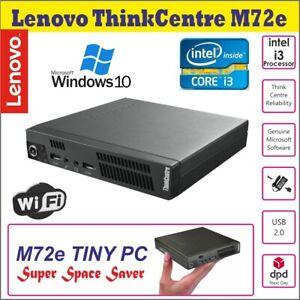 Lenovo ThinkCentre M73 Micro Tiny PC Core i3 2.80 4 Go RAM 160 Go Disque dur Wi-Fi Win10