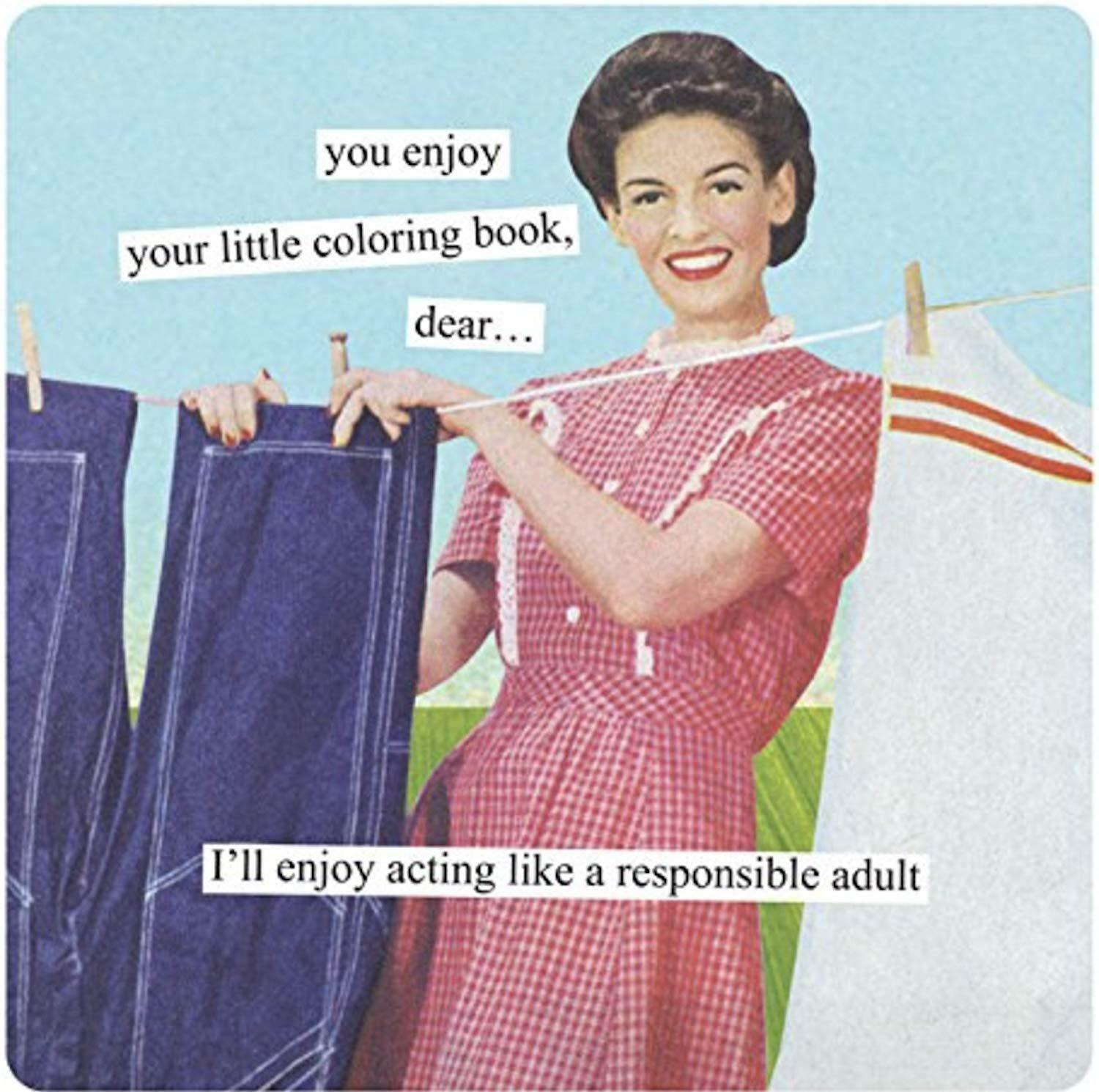Anne Taintor Square Magnet, Enjoy Your