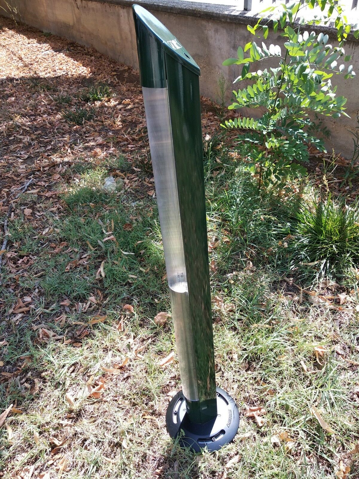 Paletto da esterno ACRO LUCITALIA 09072, in METALLO verde OLIVA 2G11 36W
