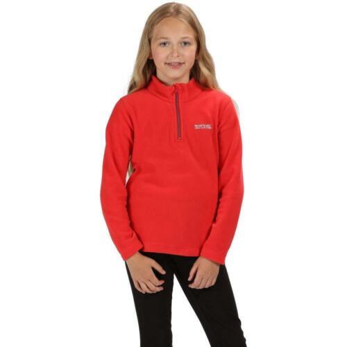 RG1422 Regatta Great Outdoors Childrens//Kids Hot Shot II Half Zip Fleece Top