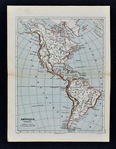 Details about 1885 Cortambert Map North & South America United States  Brazil Canada Argentina
