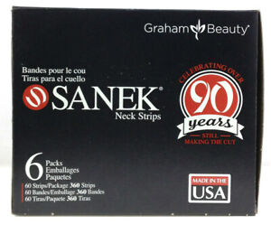 GRAHAM-SANEK-Professional-Neck-Strips-60ct-pack-Pick-Any-Packs