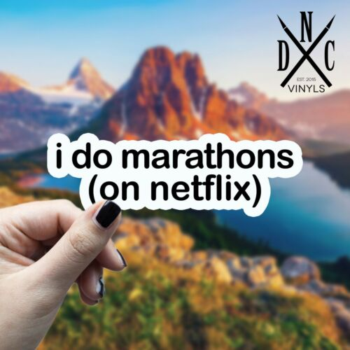 Car Truck Wall Macbook iPhone Stickers I Do Marathons Sticker Vinyl Decal