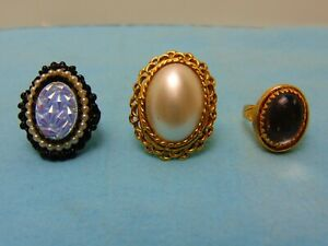 Vintage-Costume-Jewelry-Rings-Multi-Size-LOT-SALE