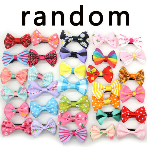 HOT 1//10PCS Girls Kids Duckbill Bow Hairpin Hair Clip Ribbon Barrette Headdress