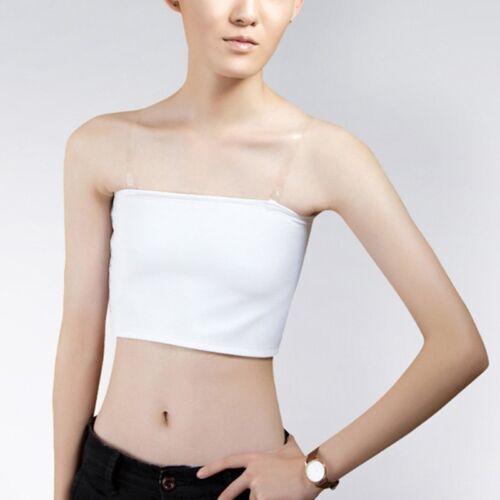 Women Breast Binder Tops Trans Lady Slim Fit Strapless Flat Chest Boob Tube Wrap