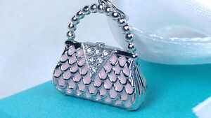 Image Is Loading Tiffany Amp Co Pink Enamel Platinum Diamond Purse