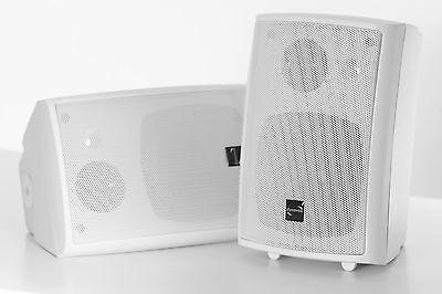 320 Watt Mini-Boxen - 3-Wege LAUTSPRECHER MIT HALTERUNG, weiss / weiß PAARPREIS