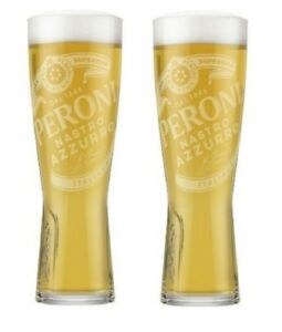 Peroni Nastro Azzurro Nucleated PINT Glass 20oz New 100/%