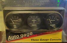 Auto Gage 2347 Triple Gauge Kit 2 Black