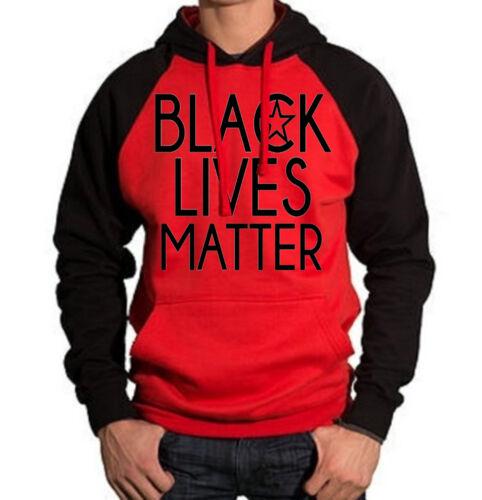 New Black Lives Matter Red Black Raglan Hoodie Sweater Chicago Sweatshirt