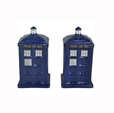 Doctor Who: Official BBC Ceramic Tardis Salt & Pepper Shakers - New In Pack