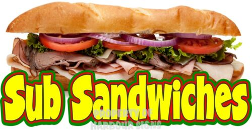 "Sub Sandwich Decal 14/"" Concession Restaurant Food Truck Vinyl Menu Sticker"