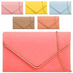 Ladies-Faux-Suede-Envelope-Clutch-Bag-Prom-Evening-Bag-Party-Handbag-Purse-K1616