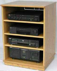 audio rack stereo cabinet tv stand entertainment center video game center ebay. Black Bedroom Furniture Sets. Home Design Ideas
